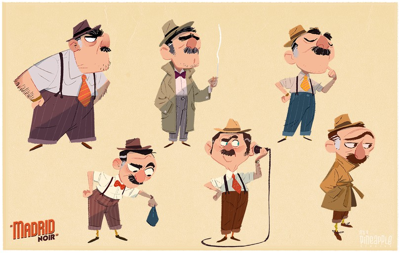 detective exploration drawing concepts by james castillo